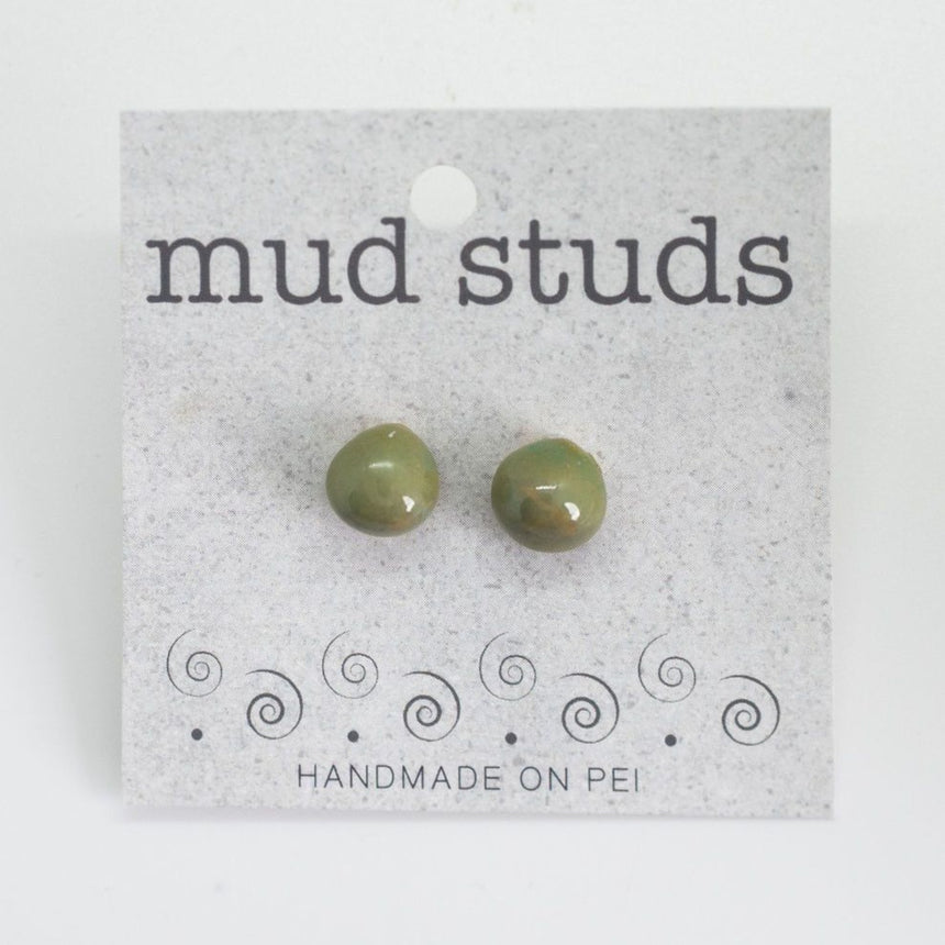 Green Pebble Mud Studs