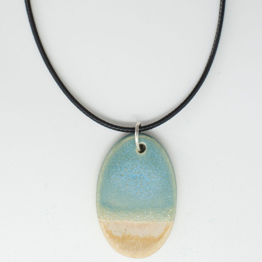 Coastal Calm Pottery Pendant