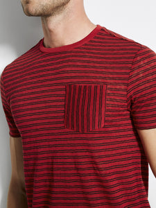 SS WESTSIDE STRIPE POCKET CREW