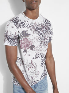 SS BSC FLORAL ANMAL CREW TEE