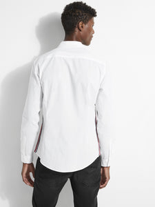 LS POPLIN SIDE STRIPE SHIRT