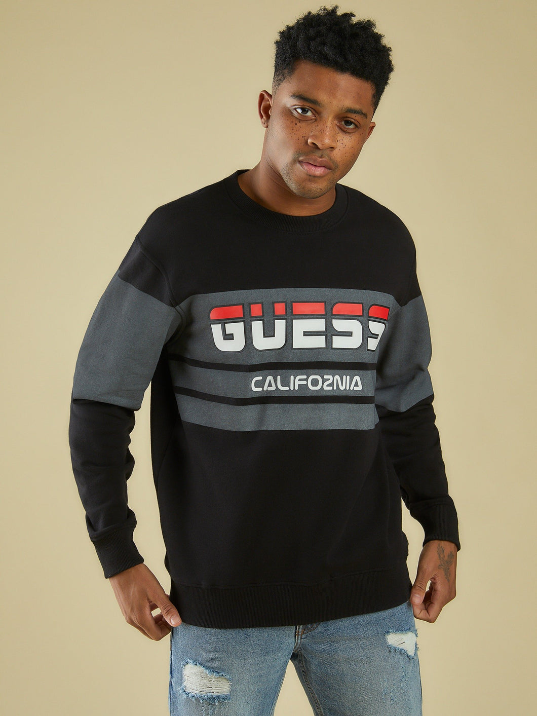LS ROY GUESS SPORT SWEATSHIRT