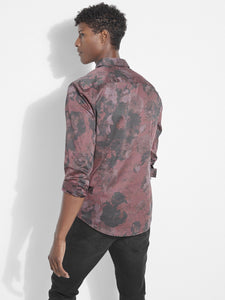 LS LUXE MELTING FLORAL SHIRT
