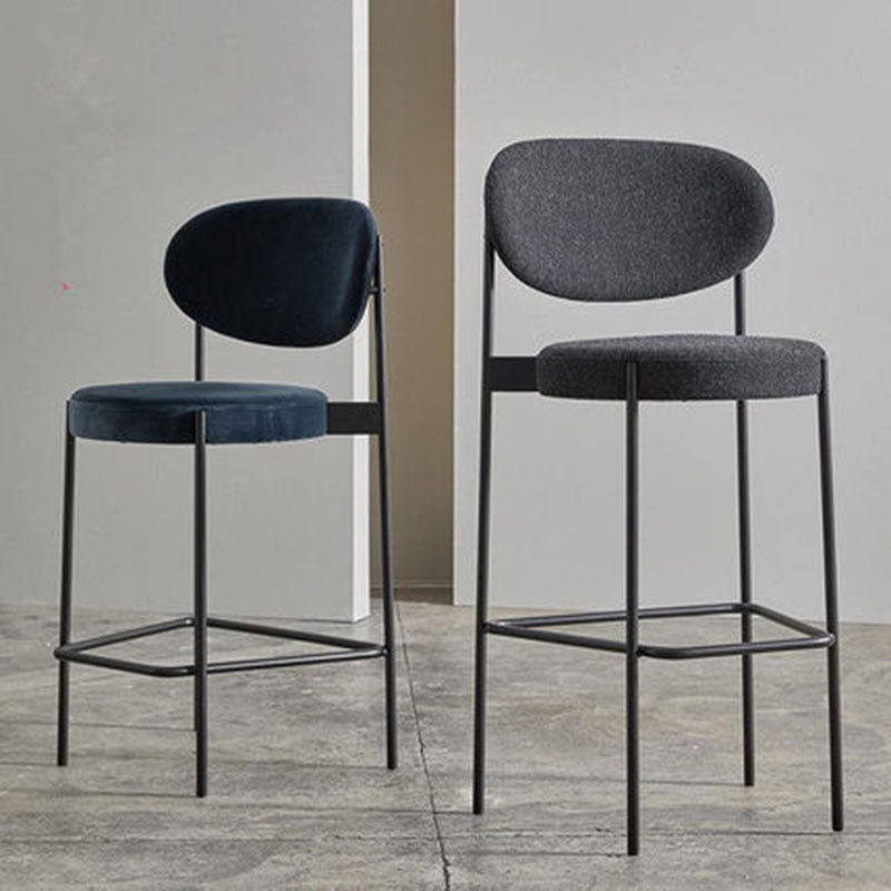 Bar Stool Nordic Modern Minimalist Home High Stool Bar Chair 65/75 CM Seat Height Backrest Dining Chair