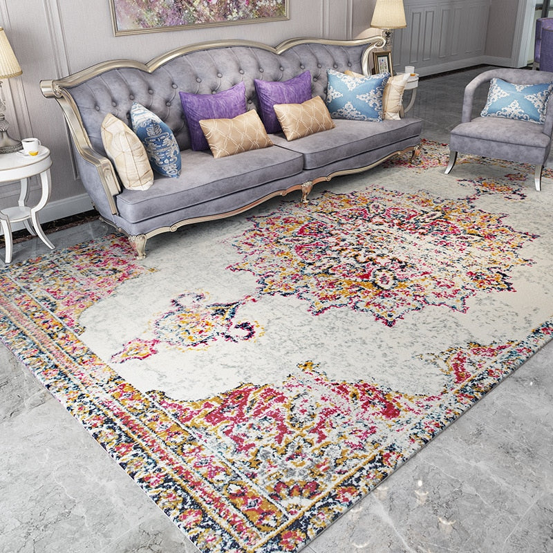 Bohemian American Retro Carpets Living Room Morocco Style Carpet Bedroom Home Sofa Persian Rug Mat Floor Rugs