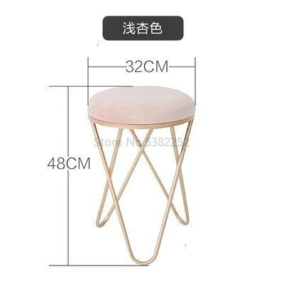 Iron Stool Dressing Chair Northern Europe Restaurant Stool