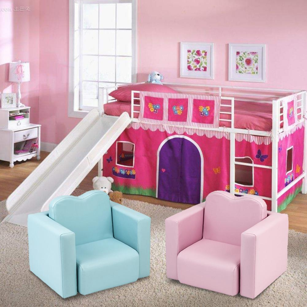 Children Sofa Multi-Functional Sofa Table and Chair Set Sky Blue