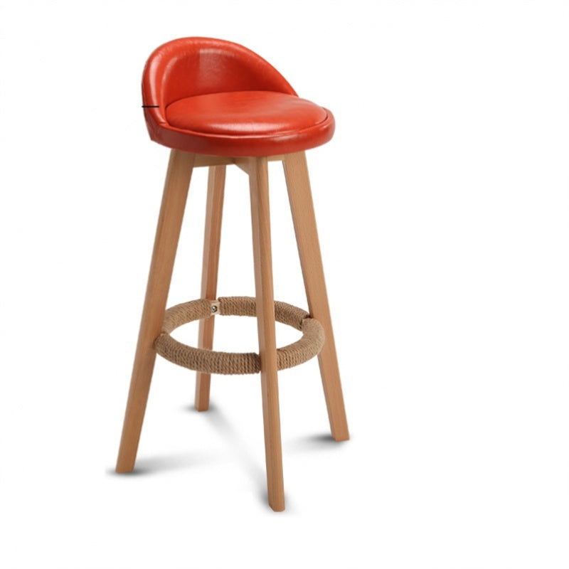 Bar Stool Nordic Modern Minimalist Household Solid Wood High Stool Bar Stool Bar Chai