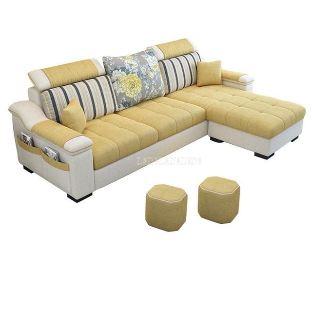 NEW 3 Seat Linen Living Room Sofa Set Home Furniture Modern Design Frame