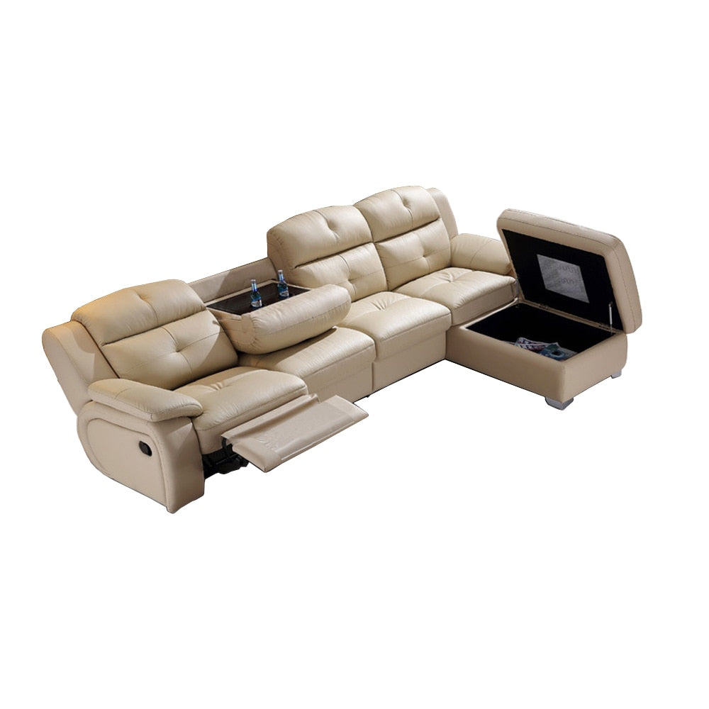 Living Room Sofa set L corner sofa recliner electric couch genuine leather sectional