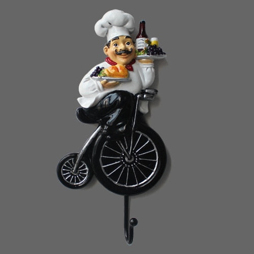 European Chef Wall Decoration Coat Hook Door Door Hook Hook Bedroom Wall Hanger Creative Kitchen