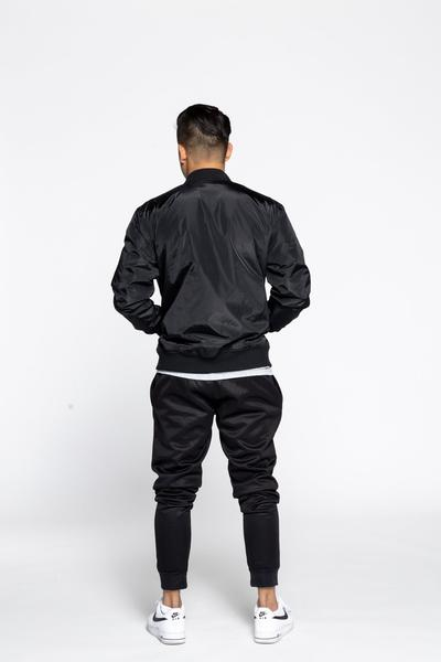 Lined Zipper Bomber Jacket