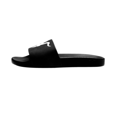 Mens Slides - White Logo on Black