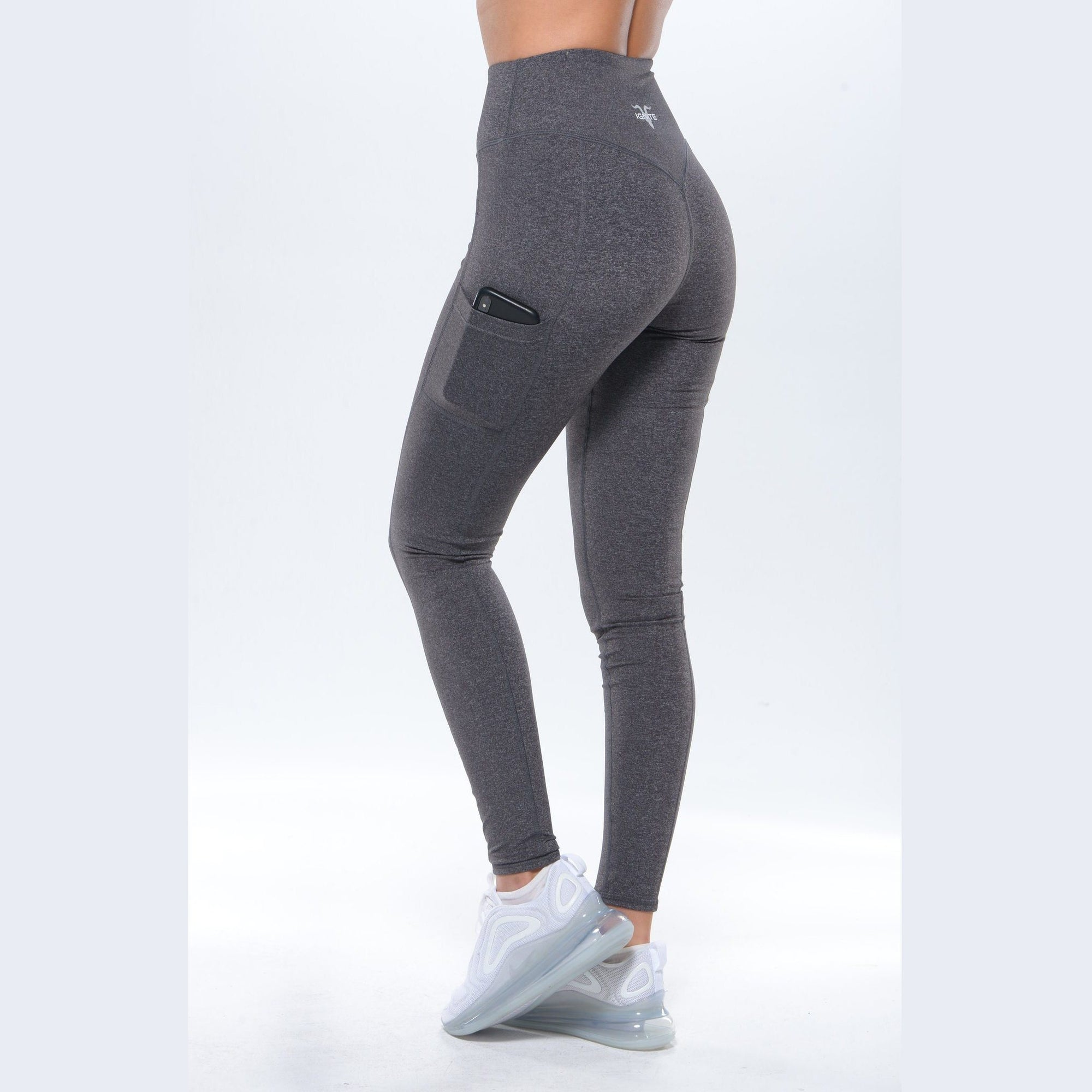 High-Waisted Pocket Leggings - Charcoal