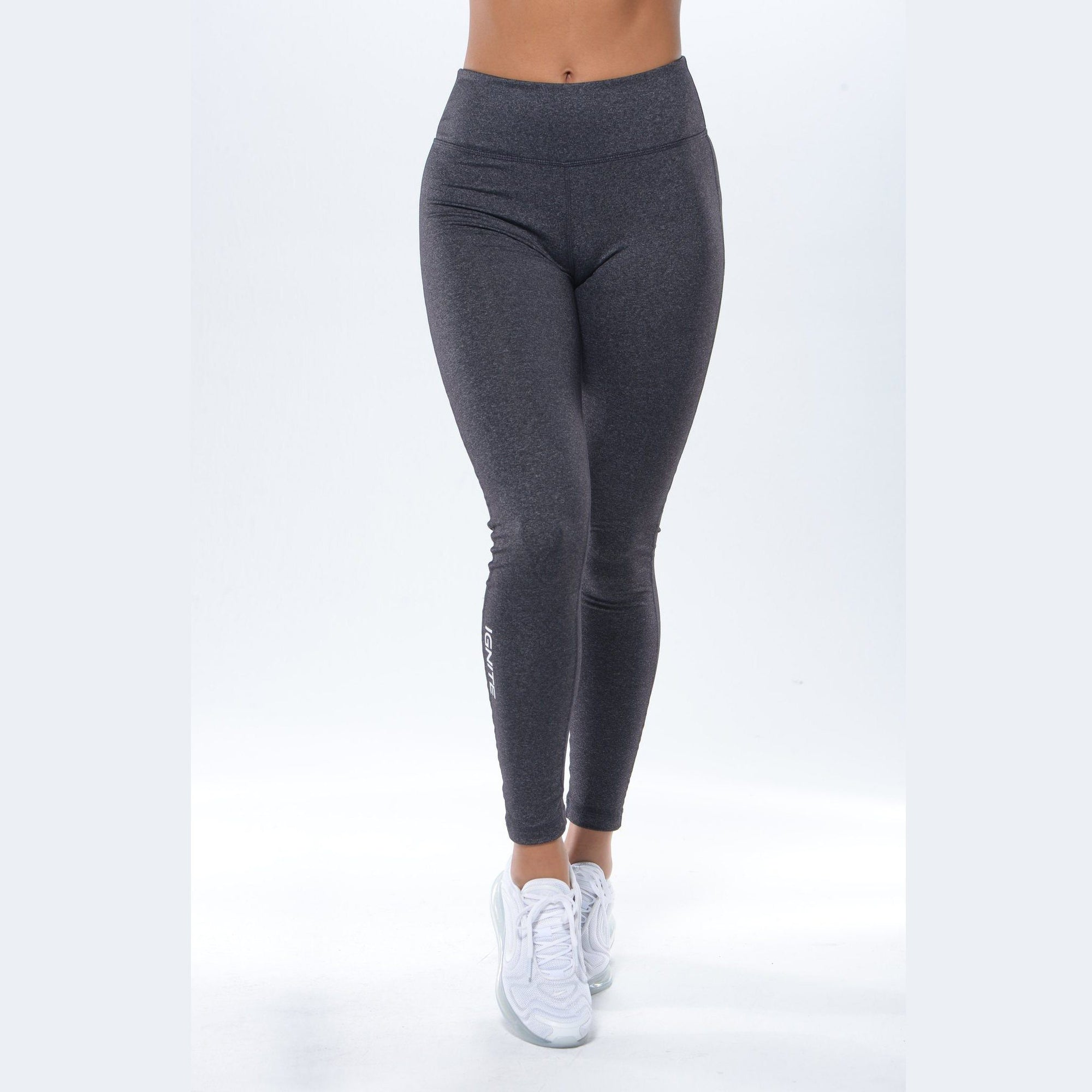 Mid-Rise Seamless Leggings - Charcoal