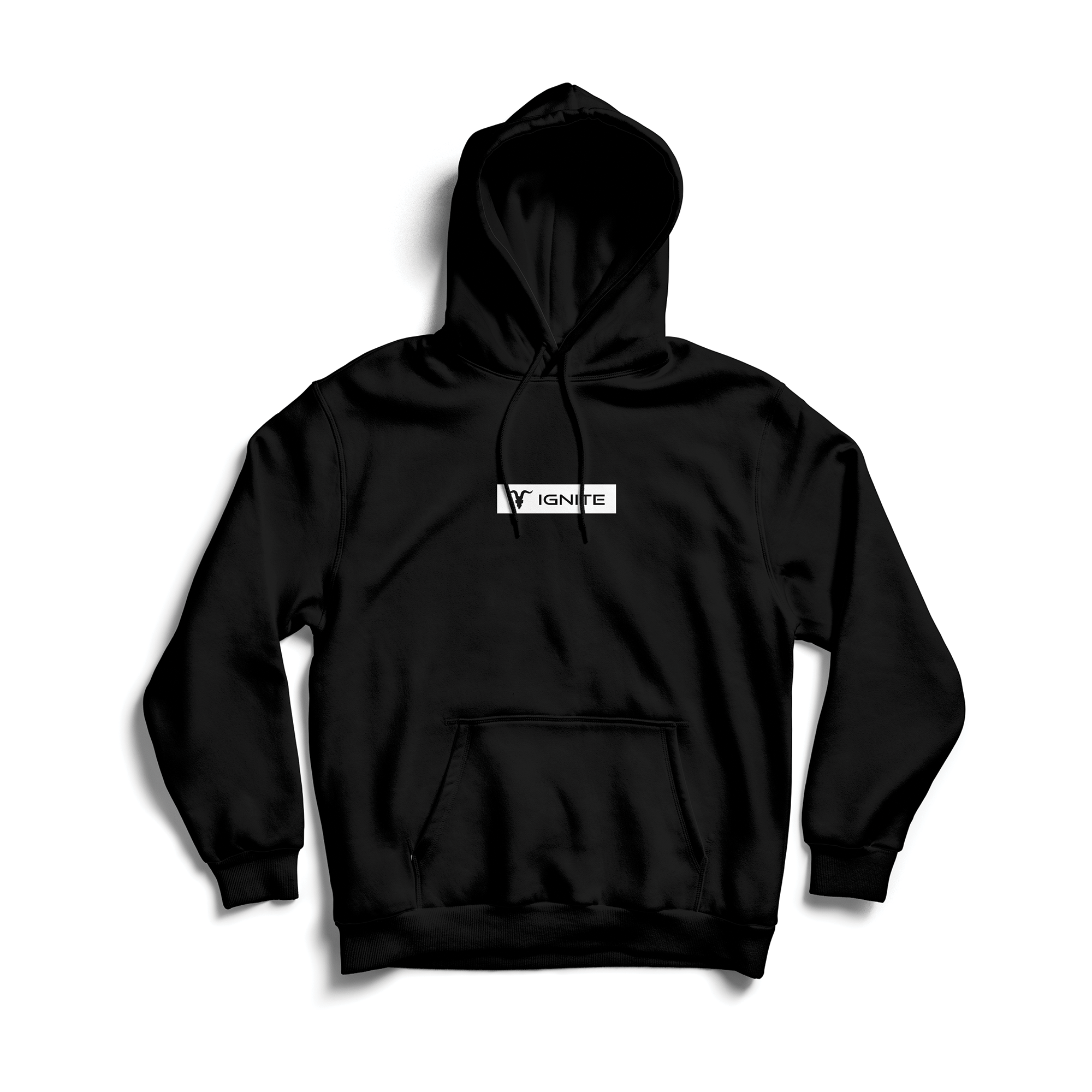 Block Strip Hoodie - Black