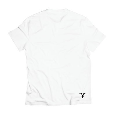 Block Strip Tee - White