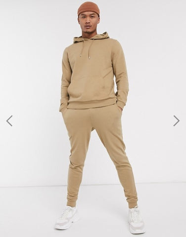 ASOS DESIGN Beige Sweatshirt With Hoody