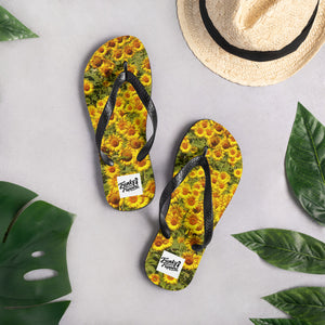 Flip flops sunflower