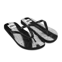 Load image into Gallery viewer, Zebra print flip flops