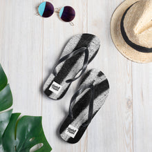 Load image into Gallery viewer, Zebra print design flip flops