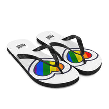 Load image into Gallery viewer, Pride mini heart flip flops