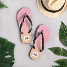 Load image into Gallery viewer, orange and pink fade flip flops