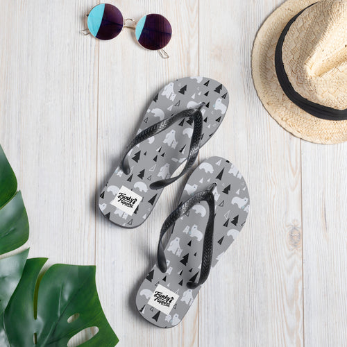 Polar bear design flip flops