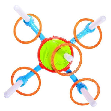 Electric Rotating Ring Toss Game with Lights and Music Children Family Game.