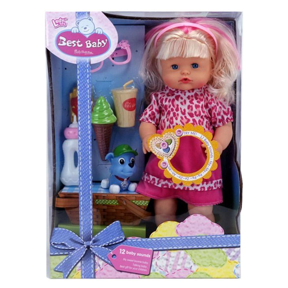 16 inch DOLL WITH THE FUNCTION OF DRINKING AND STALING 12SOUND.
