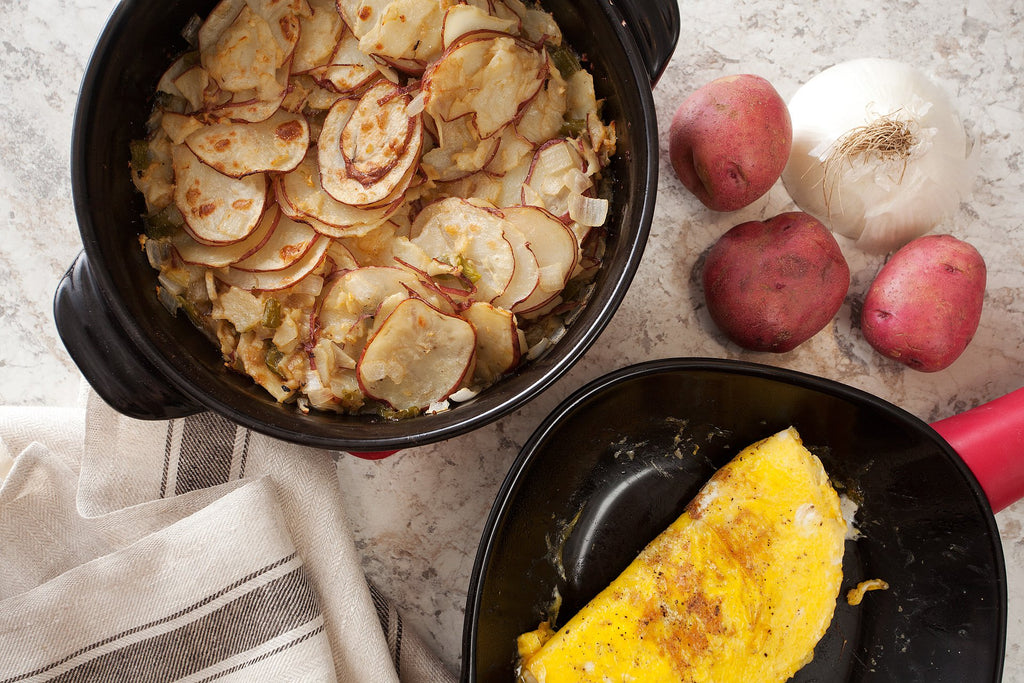 Breakfast Stove-Top to Oven Potatoes