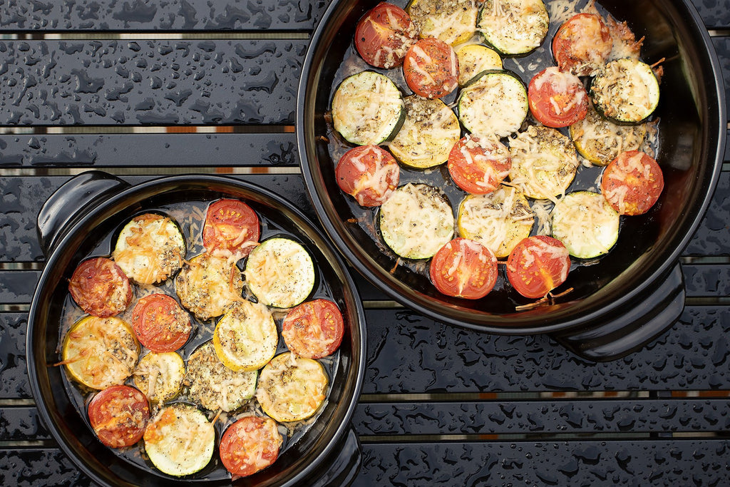 Roasted Garlic-Parmesan Zucchini, Squash & Tomatoes