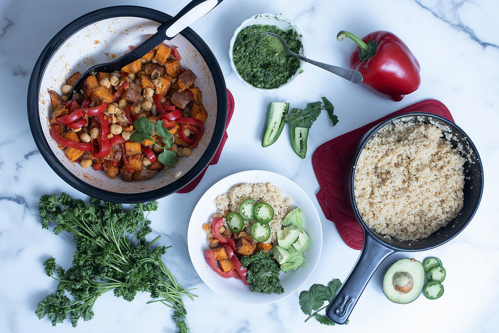 Sweet Potato Chickpea Macro Bowl