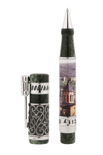 Load image into Gallery viewer, Derbent City 2000th Anniversary Silver Rollerball Pen
