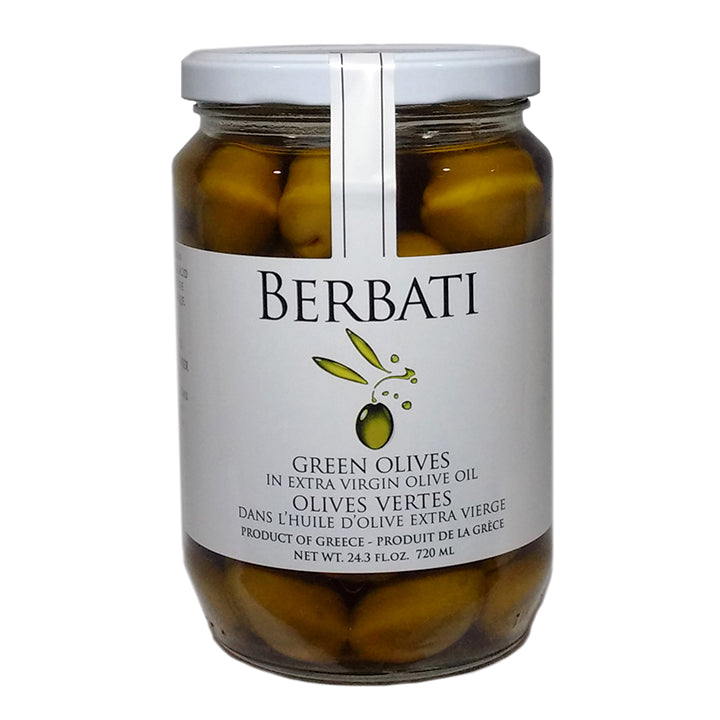 Green Olives in Extra Virgin Olive Oil - 720ml