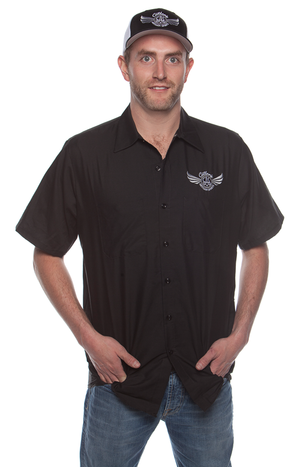 Men's Black Workshirt (Front)