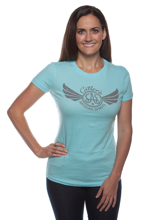 Women's Cancun Blue Logo Shirt
