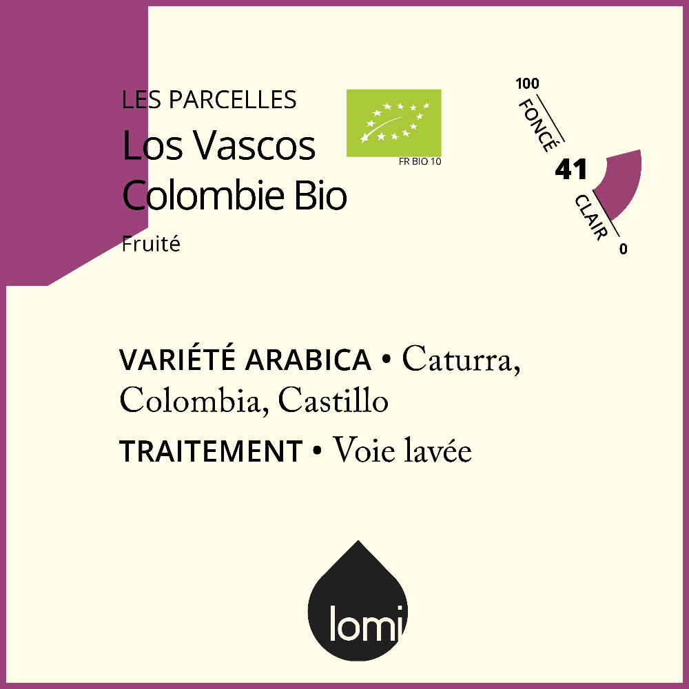 "Café de colombie BIO ""Los Vascos"" torréfié par Lomi - single origin organic specialty coffee from Colombia"