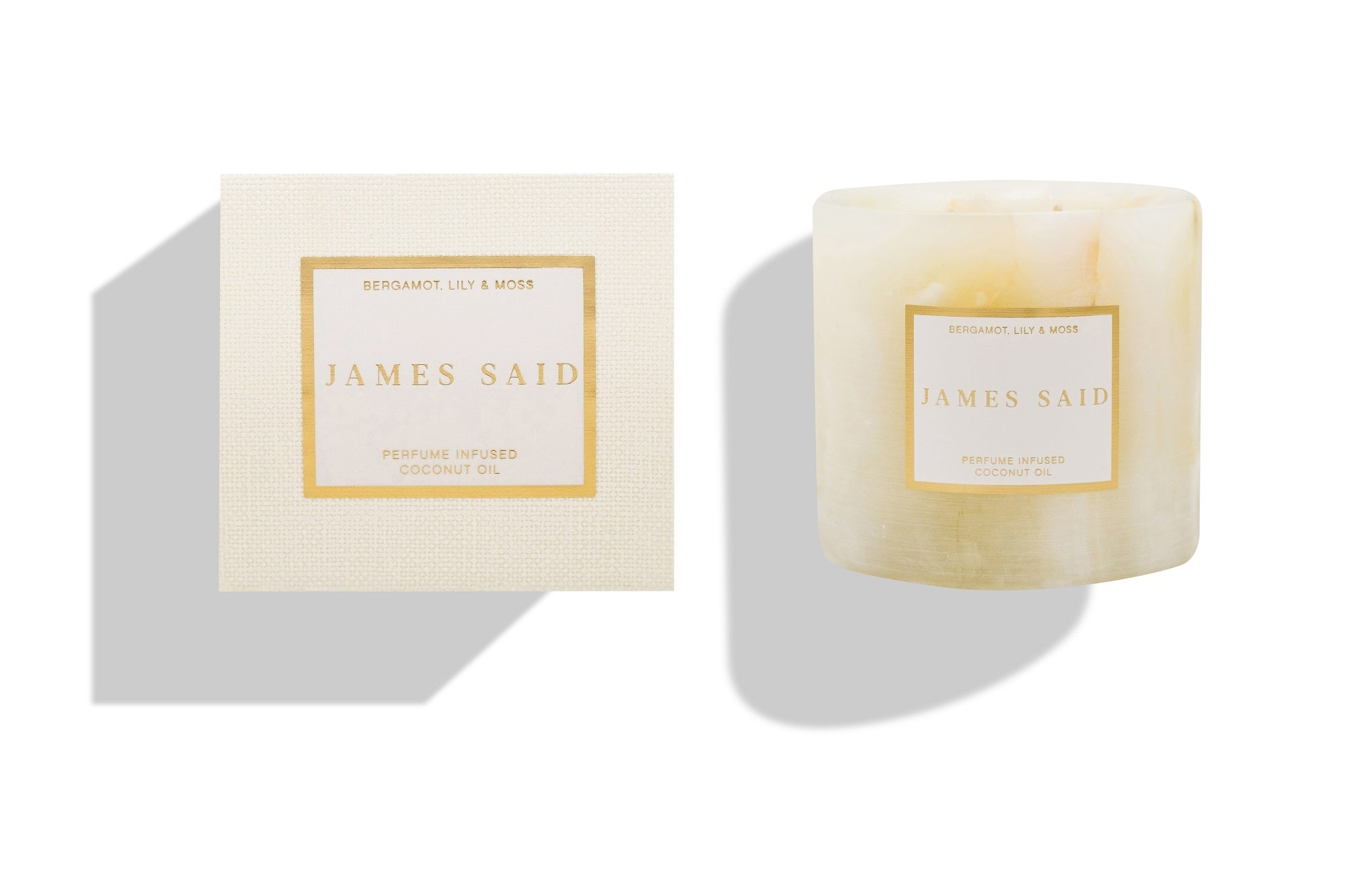 James Said Bergamot, Lily & Moss Onyx Alabaster Candle - 400g