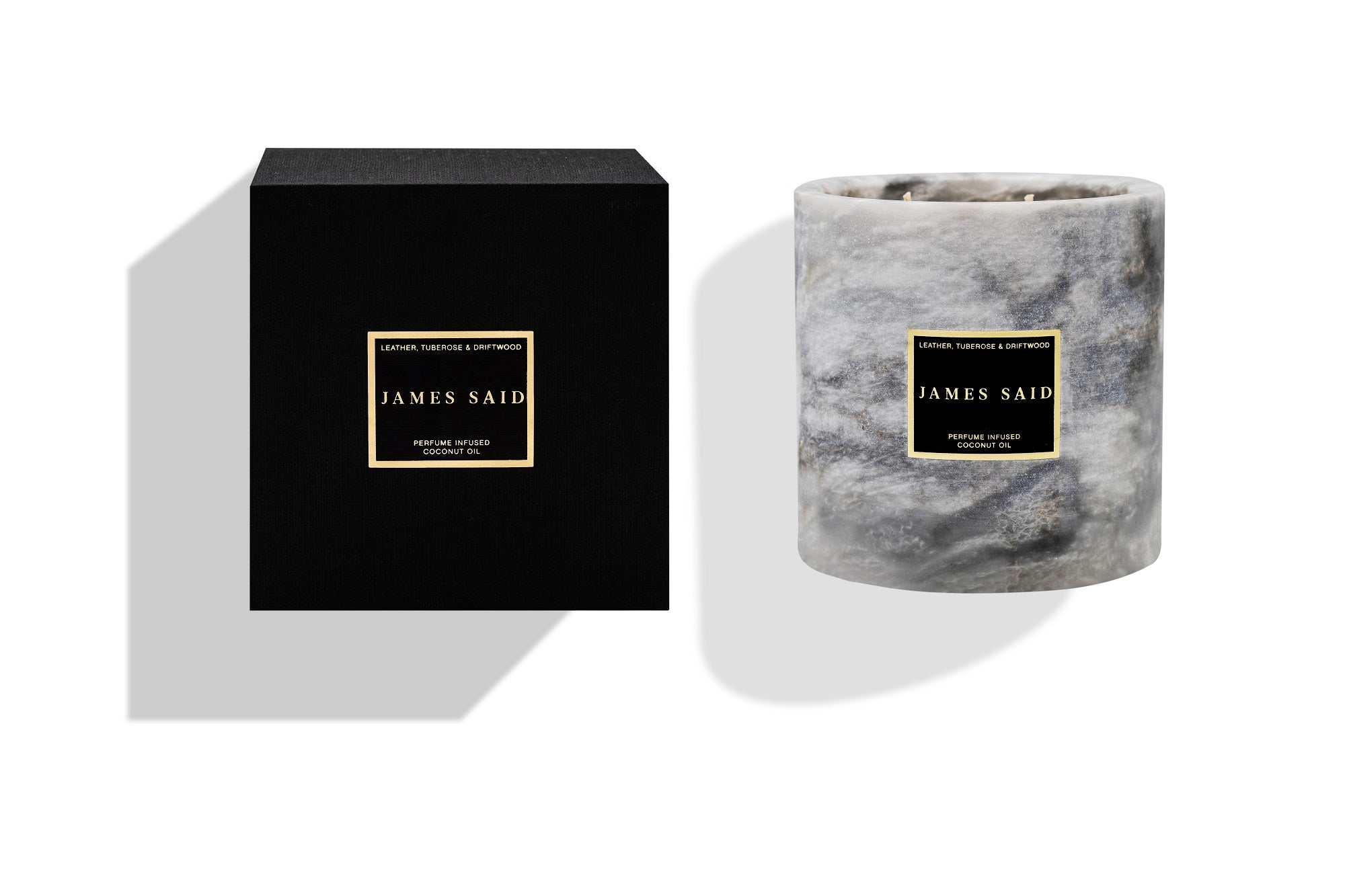 James Said Leather, Tuberose & Driftwood Onyx Smoked Candle - 1250g