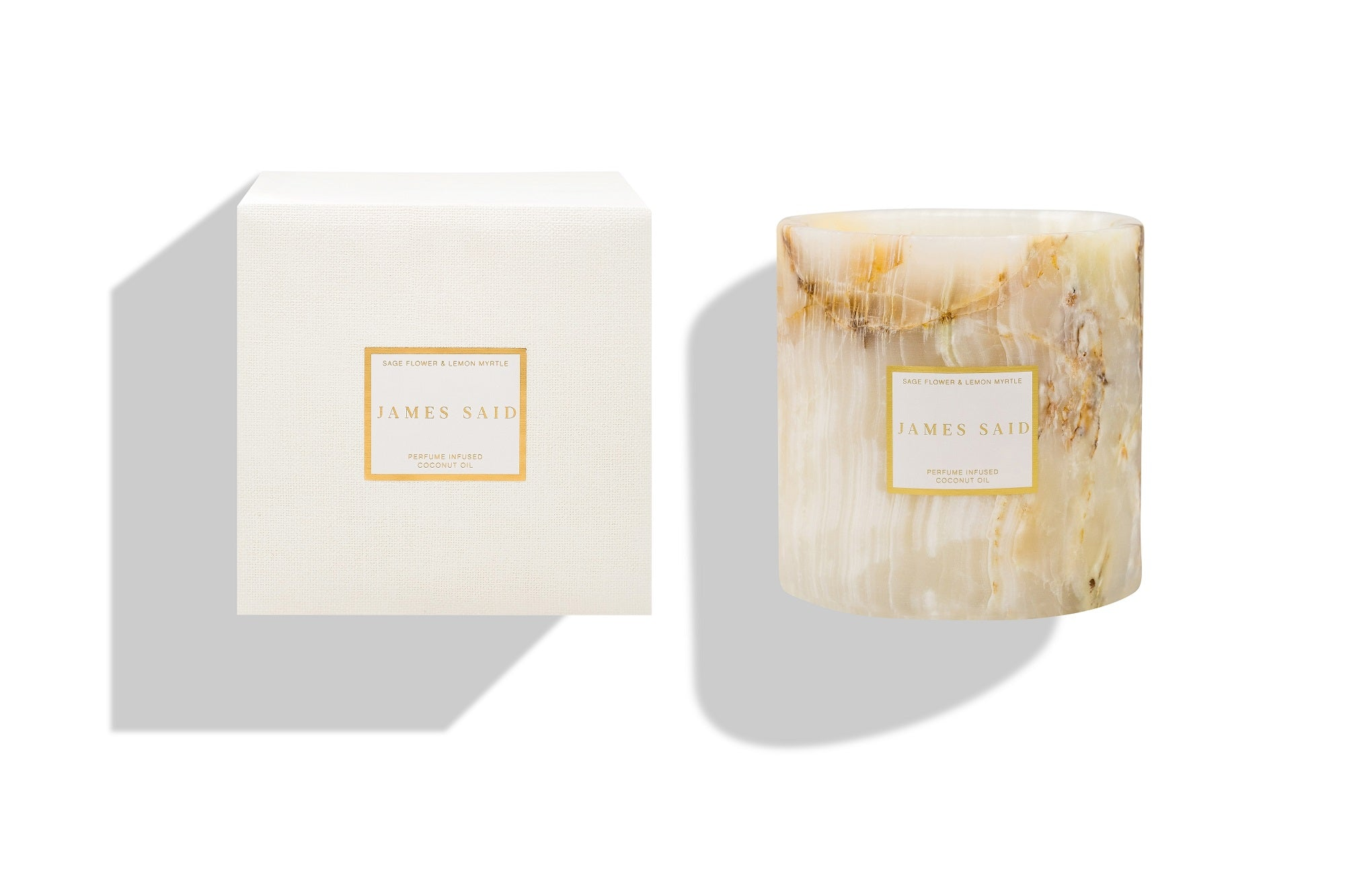 James Said Sage Flower & Lemon Myrtle Onyx Alabaster Candle - 1250g