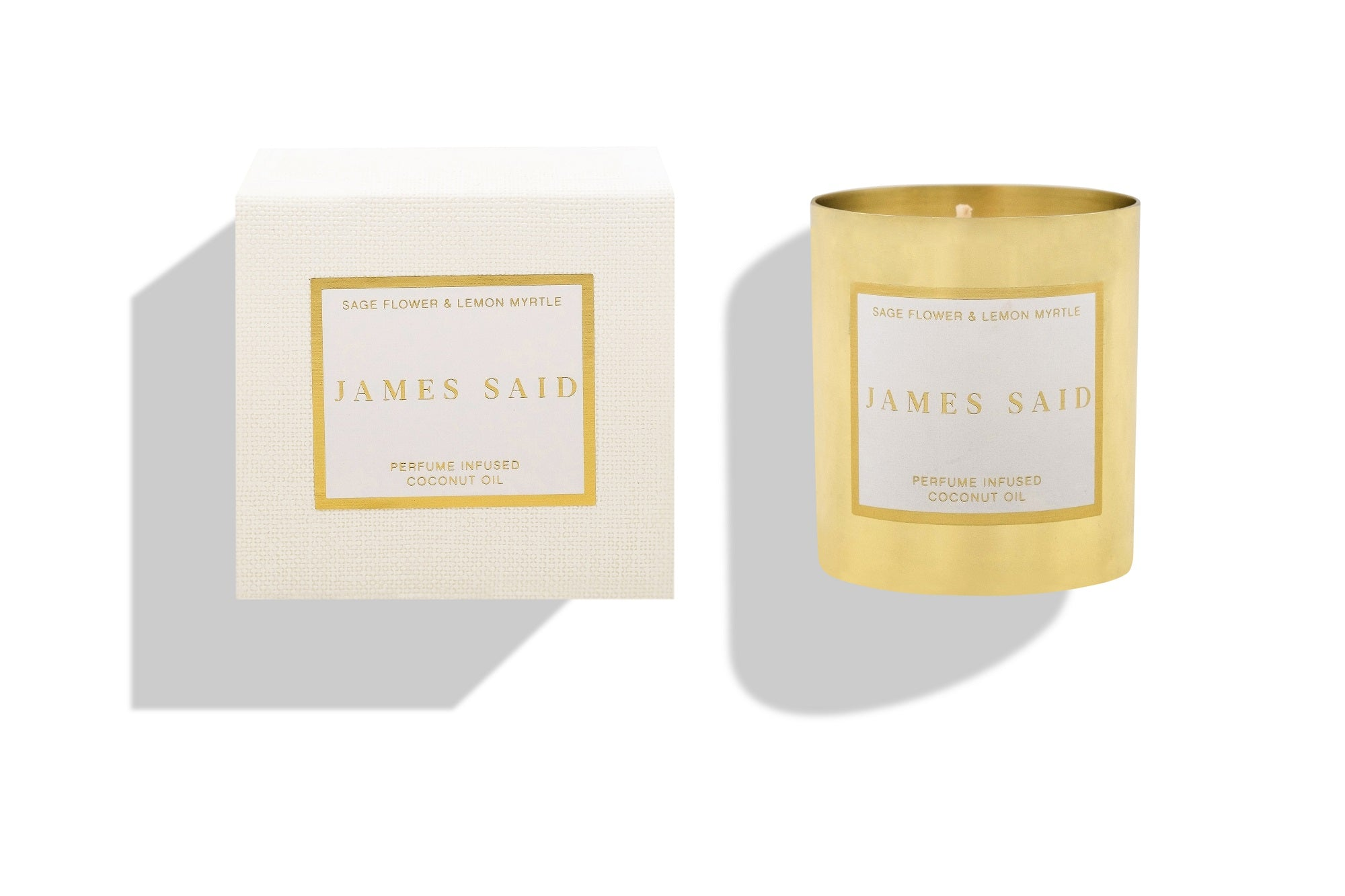 James Said Sage Flower & Lemon Myrtle Brass Candle - 350g