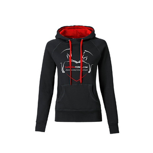 "Hoodie ""LUCY"" in schwarz-rot"