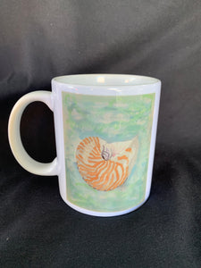 Shell Watercolor Mug