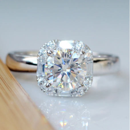 Collection: 925 Silver Sterling 1 Carat Moissanite Diamond Ring