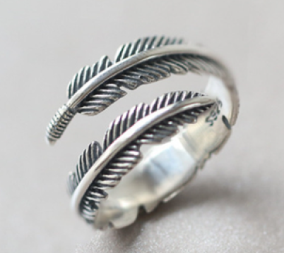Adjustable Vintage Silver Sterling Pluma Ring
