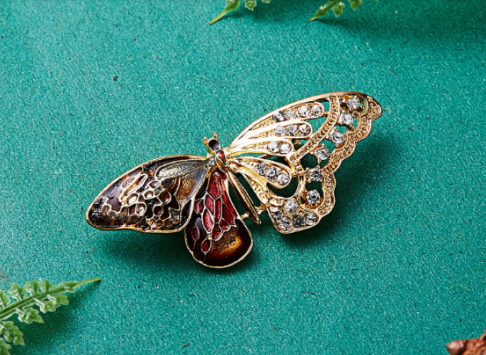 Brooch For Coat with Gemstones