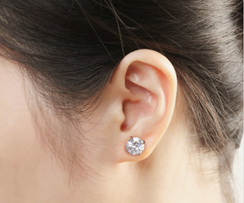 Creative Stimulation Diamonds Stud Earrings