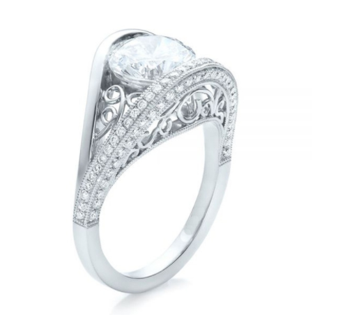Collection: Creative 925 Silver Sterling Stimulation Diamond Ring