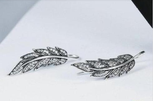 Oak leaf Silver Sterling Earrings